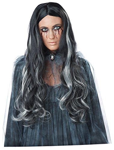 California Costumes Women's Bloody Mary Wig, Black/Gray One Size ()