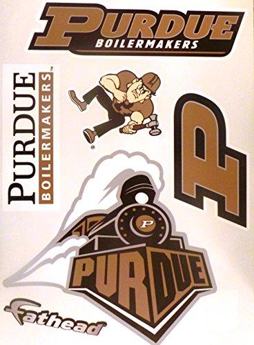 Purdue Boilermakers Vinyl (Purdue Boilermakers FATHEAD Team Set of 5 Logo Official NCAA Vinyl Wall Graphics 17