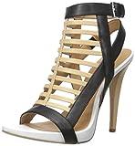 Calvin Klein Women's Nalo Dress Sandal, Sand Brown/Black/Platinum White, 10 M US