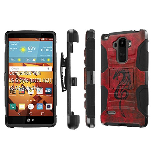 Click to buy LG G Stylo [LS 770 H631], [NakedShield] [Black/Black] Holster Armor Tough Case - [Fire Dragon] for LG G Stylo LS770 - From only $12.79