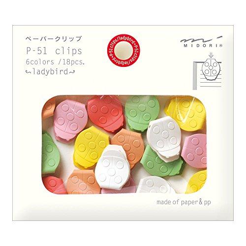 Midori Paper Clips, Ladybug, 18 Pieces (43315006)