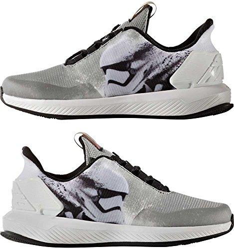 adidas Unisex-Kinder Star Wars K Sneakers, Schwarz (Negbas/Gris/Ftwbla), 30.5 EU