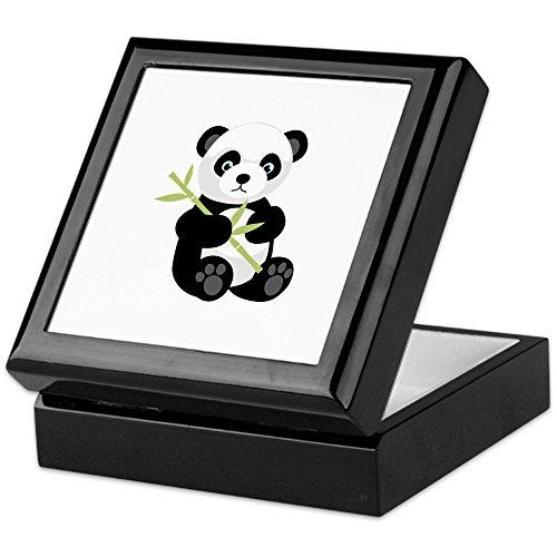 (CafePress - Panda Bear - Keepsake Box, Finished Hardwood Jewelry Box, Velvet Lined Memento)