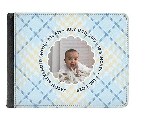 Genuine Personalized Leather fold Boy Wallet Men's Photo Baby Bi pTqHwW7xn