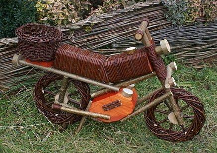 Motocicleta Sauce Flores Soporte maceta jardín Decorar cesta para plantas, ort025: Amazon.es: Jardín