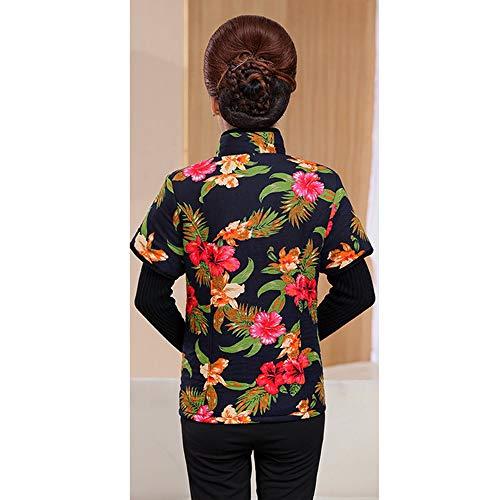 Autunno Tasche Giacca Stile 8 Cappotti Xfentech Con Manica In Mezza Gilets Donna Cotone vYa1qwp5