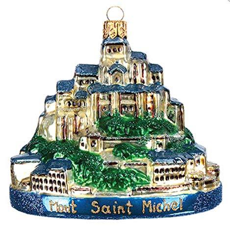 Price comparison product image Mont Saint Michel Normandy France Abbey Monastery Fortress Cathedral Landmark Souvenir Polish Glass Christmas Ornament Decoration 142