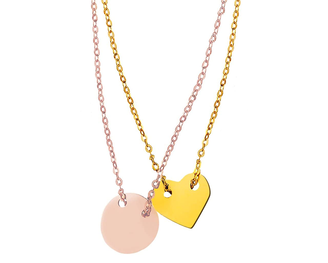 Circle Of Life Celebrity Style 18k Rose Gold Vermeil  45cm Chain Necklace.
