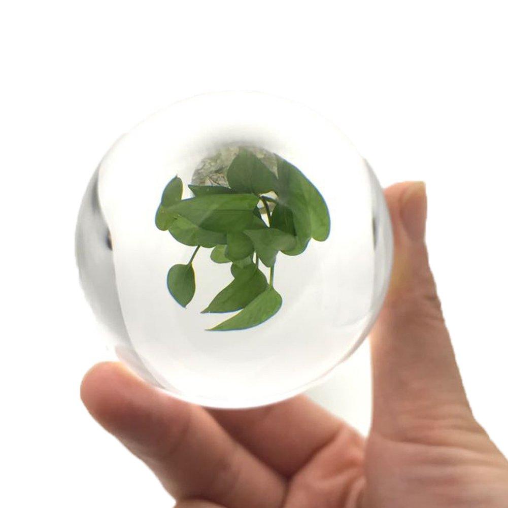 60mm K9 Klare Kristallkugel, QIJOVO Wunderschöne Glaskugeln Perfekt ...