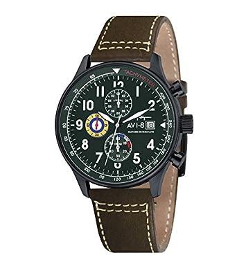AVI-8 Herren- Armbanduhr Hawker Hurricane Chronograph Quarz AV-4011-05