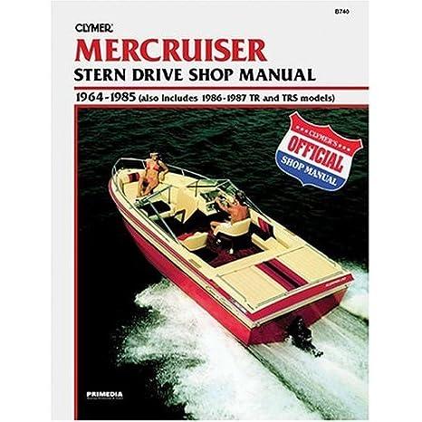 amazon com clymer b740 mercruiser stern drive shop manual 1964 rh amazon com