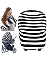 Baby Car Seat Canopy Nursing Cover - All-in-1 Multi Use Nursing Covers - Carseat Canopy - Breastfeeding Scarf - Stroller Covers - Shopping Cart Hammock - Perfect Gift for Pregnant Moms