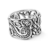 Carolyn Pollack CP Signature Sterling Silver Band Ring