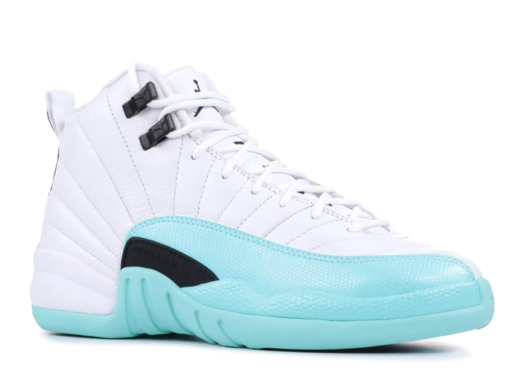 Jordan Nike Air 12 Retro GS Kids Light Aqua 510815-100 (Size: 4Y)