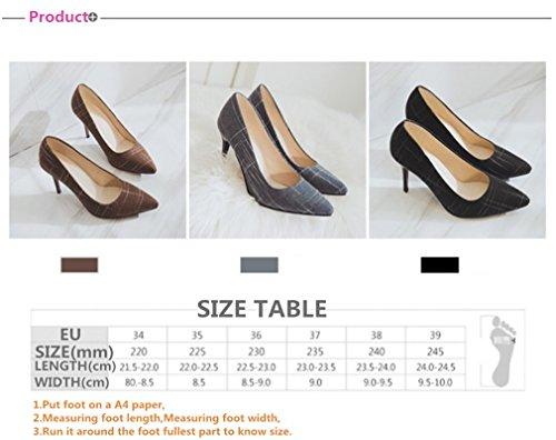 Lucky a Fiesta Sandalias Brown Peep Novia Tacón Altos Corte a Toe Telas Mujer Dama Lujo Princesa De Clover Tacones Zapatos Aguja Baile 1rqHx81w