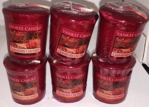 Cranberry Chutney Yankee Candle Votives (6 pack) (Yankee Candle Chutney Cranberry)