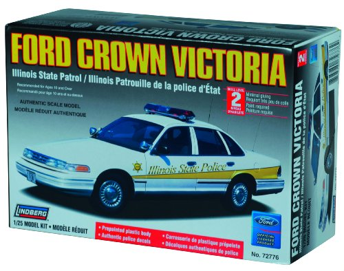 Police Crown Victoria (Lindberg 1:25 scale Ford Crown Victoria Illinois State Police)