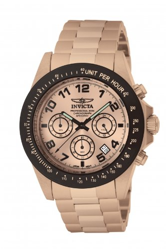 Speedway Rose Gold (Invicta Men's 10705 Speedway Chronograph Rose Dial 18k Rose Gold Ion-Plated Stainless Steel Watch)
