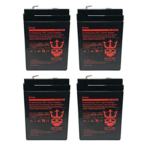 (6V 4.5AH REPLACEMENT FOR GS RECHARGEABLE LEAD-ACID BATTERY PE6V4.5 BY NEPTUNE - 4)