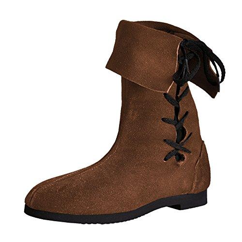 con vuelta con Botas calzado caña medieval lateral altas acordonado 1YUqfwqa