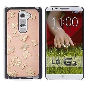 Caucho caso de Shell duro de la cubierta de accesorios de protección BY RAYDREAMMM - LG G2 D800 D802 D802TA D803 VS980 LS980 - Vintage Pink Peach