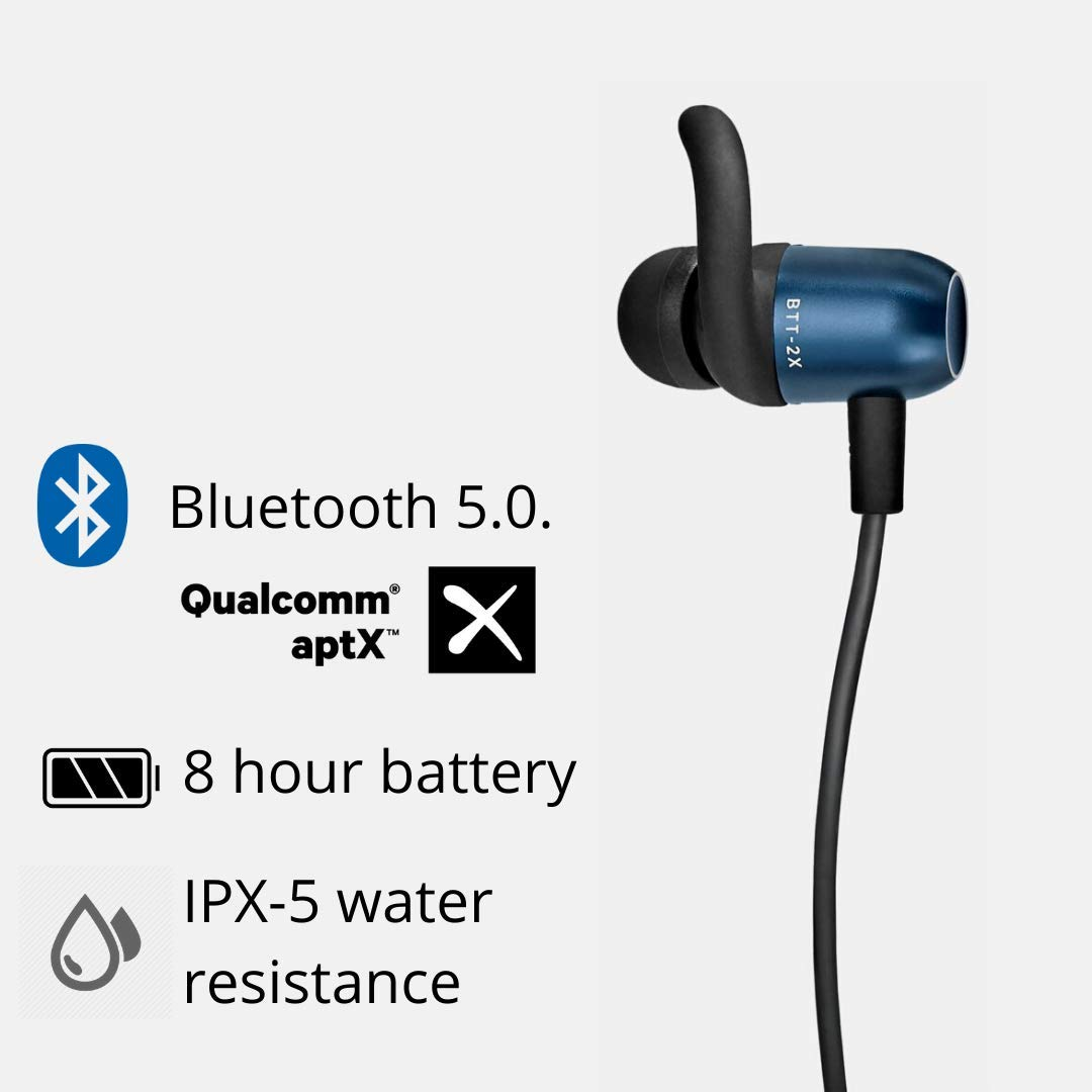 Wireless Earbuds Bluetooth Headphones HD Stereo Noise Cancelling Headphones Sweat-Proof Built-in Hands-Free Microphone and Charging Box Compatible with iOS Android iPhone Airpods Samsung