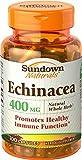 Sundown Naturals Echinacea 400 mg Capsules 100 CP - Buy Packs and SAVE (Pack of 3)