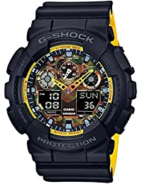 G-Shock Men's Analog-Digital Black & Yellow Resin Strap...