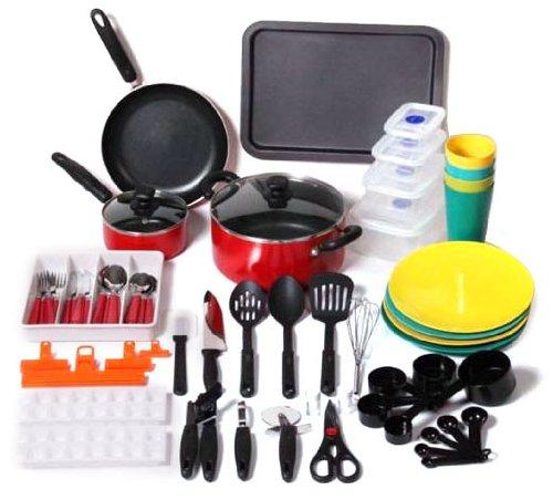 Unica Household 67-Piece Kitchen Starter Set