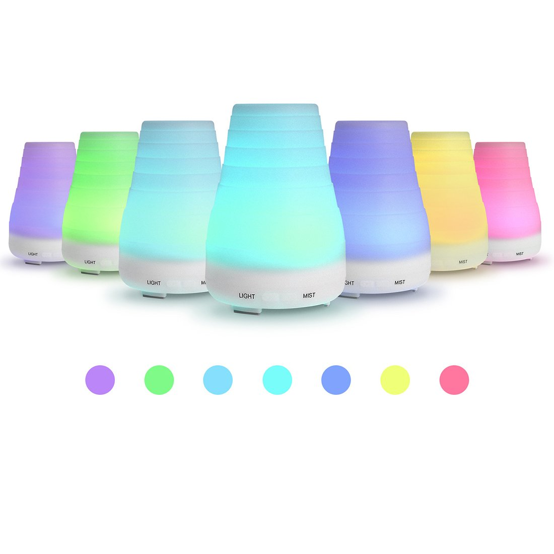 Plastic Aromatherapy Humidifier different styles for choice Solid for Home Baby Bedroom Office Study Yoga Spa