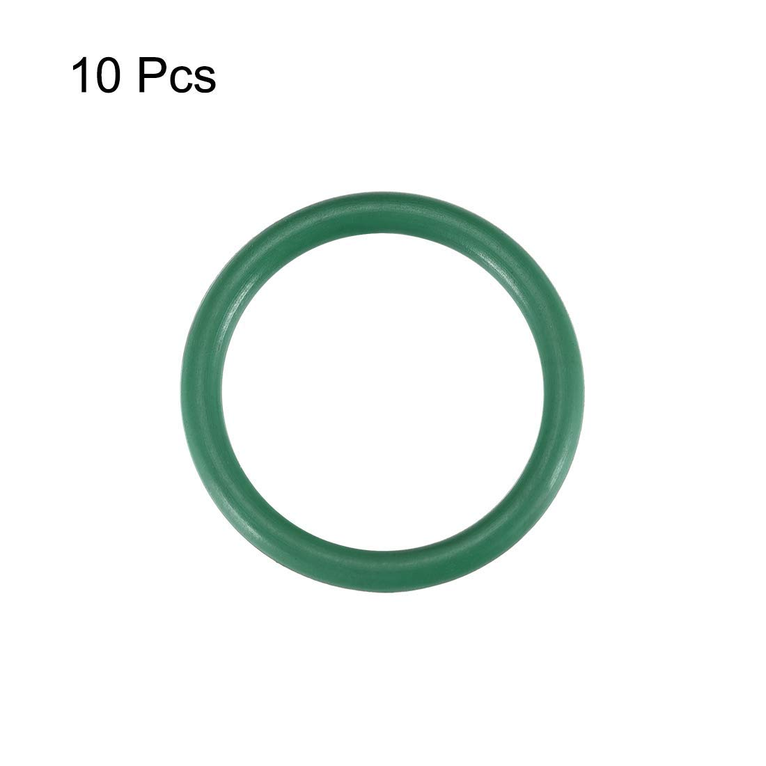 O-Rings of Fluorine Rubber Inner Diameter of 13 mm Width of 2 mm Green Seal 10 Pieces Outer Diameter of 17 mm