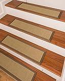 NaturalAreaRugs Eastland Sisal Carpet Stair Treads 9'' x 29'' (Set of 13)
