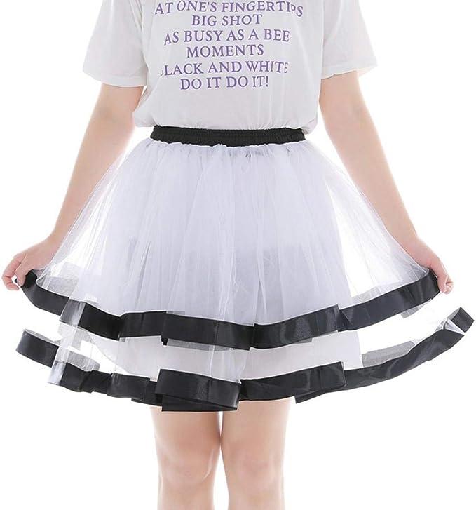 Faldas Frashing Media Gasa De Vestido Noche Tutu Corto Retro Moda ...
