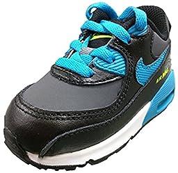 Nike Air Max 90 LTR Black Blue Lagoon-Dark Grey-White (8c Toddler)