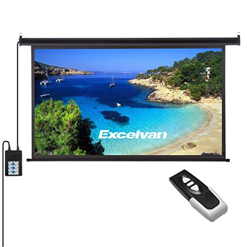 Projection Screen Remote (Excelvan Portable 120 Inch 16:9 1.2 Gain Wall Ceiling Electric Motorized HD 4K Indoor Outdoor Projector Screen with Remote Control for Family Home Theater and Office)