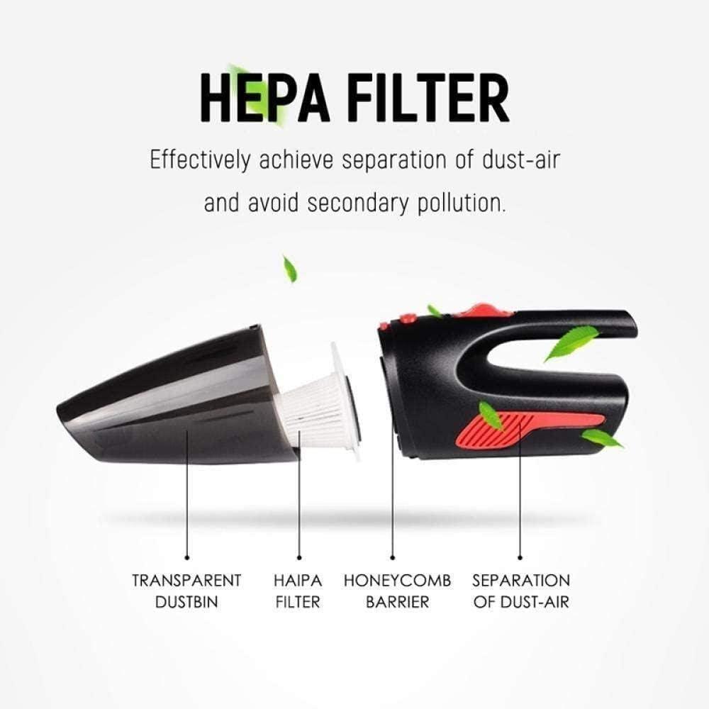 GSWF_OOEFC Y & Z Aspirateur de Voiture 120W Aspirateur 5000PA Super Suction Portable sans Fil Portable Rechargeable Clean (Couleur: Blanc) LOLDF1 (Couleur: Blanc)-Noir Noir