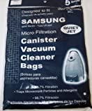 samsung canister vacuum - SAMSUNG VP-90T CANISTER BAGS REPL. (5)PK.