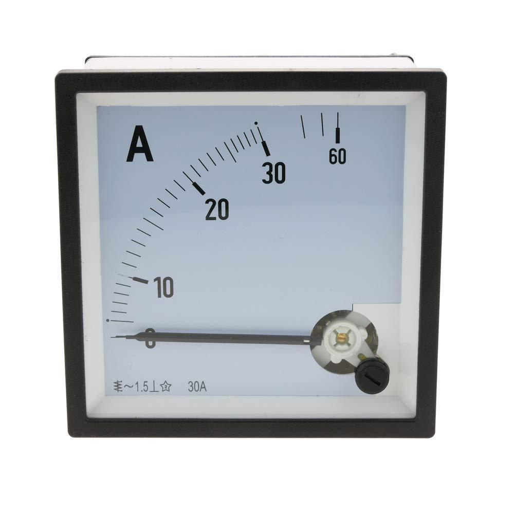 Elektrisches analoges quadratisches Paneelmeter 96x96mm 30A Amperemeter BeMatik