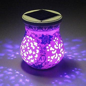 Style chinois lLW céramique lED solaires de jardin avec éclairage ...