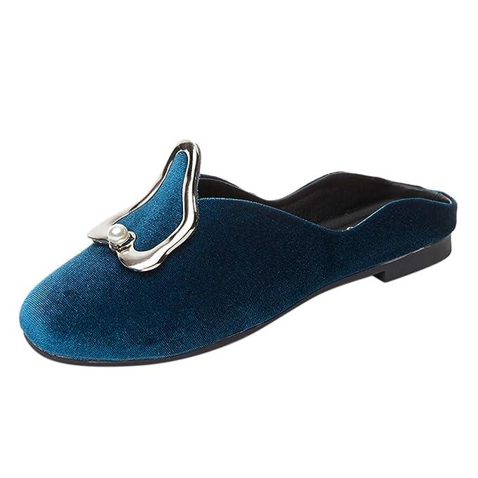 Sandalias Mujer Verano 2019 Planas ❤ Absolute Zapatos Planos de Verano de Gran tamaño para