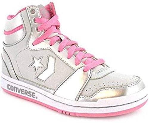 CONVERSE Court Supreme MID leather Schuhe All Star Sneaker Chucks Leder NEU & OVP Weiss / Silber
