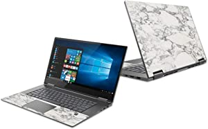 "Mightyskins Skin Compatible with Lenovo Yoga 730 15"" (2018) - White Marble 