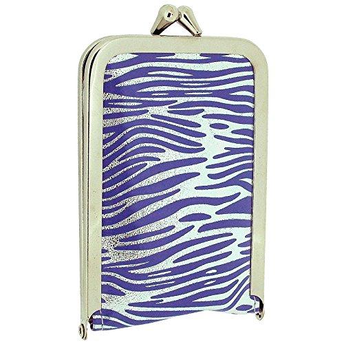 (TOC Ladies - Girls Funky Purple & Silver Zebra Print Case 4 Piece Manicure Set SC855)