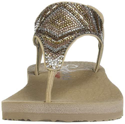 Beige Glam Aperta Gypsy Donna Tpmt Multi Sandali Meditation Punta taupe Skechers A EFYBq8a8Z