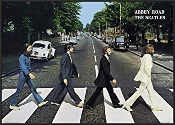 Beatles Abbey Road Framed Music Poster Print