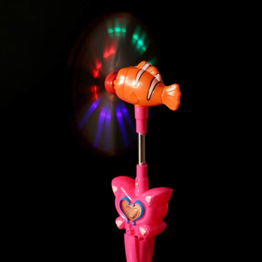 Yuxiale New Wind Spinner Glitter Glow Windmill Flash Light Luminous Music Toys Electronic Kids Toy Children Night Party Decoration Pinwheel Wheel Magic Stick Gifts