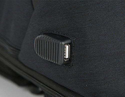 HUIMEIDA Herren Laptop Rucksack Dammen Rucksack mit USB-Port Wasserdicht Business Rucksack Groß Diebstahlschutz Notebook Rucksack (Schwarz) Grau 7DBU9Jt