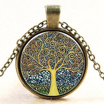 Lemonc The tree of life time ruby pendant necklace Pendants