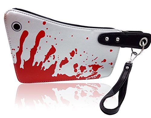 Sllybo Women Clutch Handbag Purses Wallets Hatchet 3D Knife Handbag Halloween Evening Bag (Sliver)