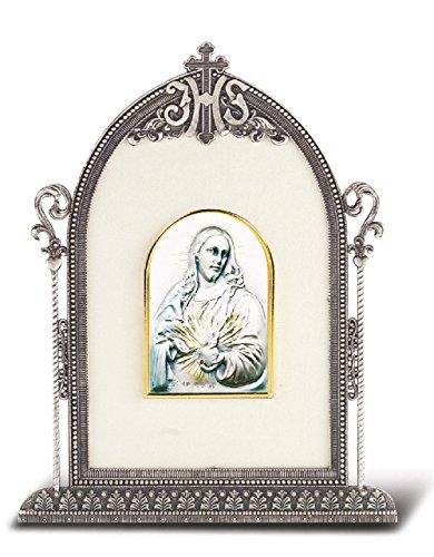 (Sacred Heart Framed Sterling Italian Image)